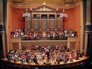 Istanbul to London (2005): Emre Araci conducts in Dvorak Hall, Rudolfinum